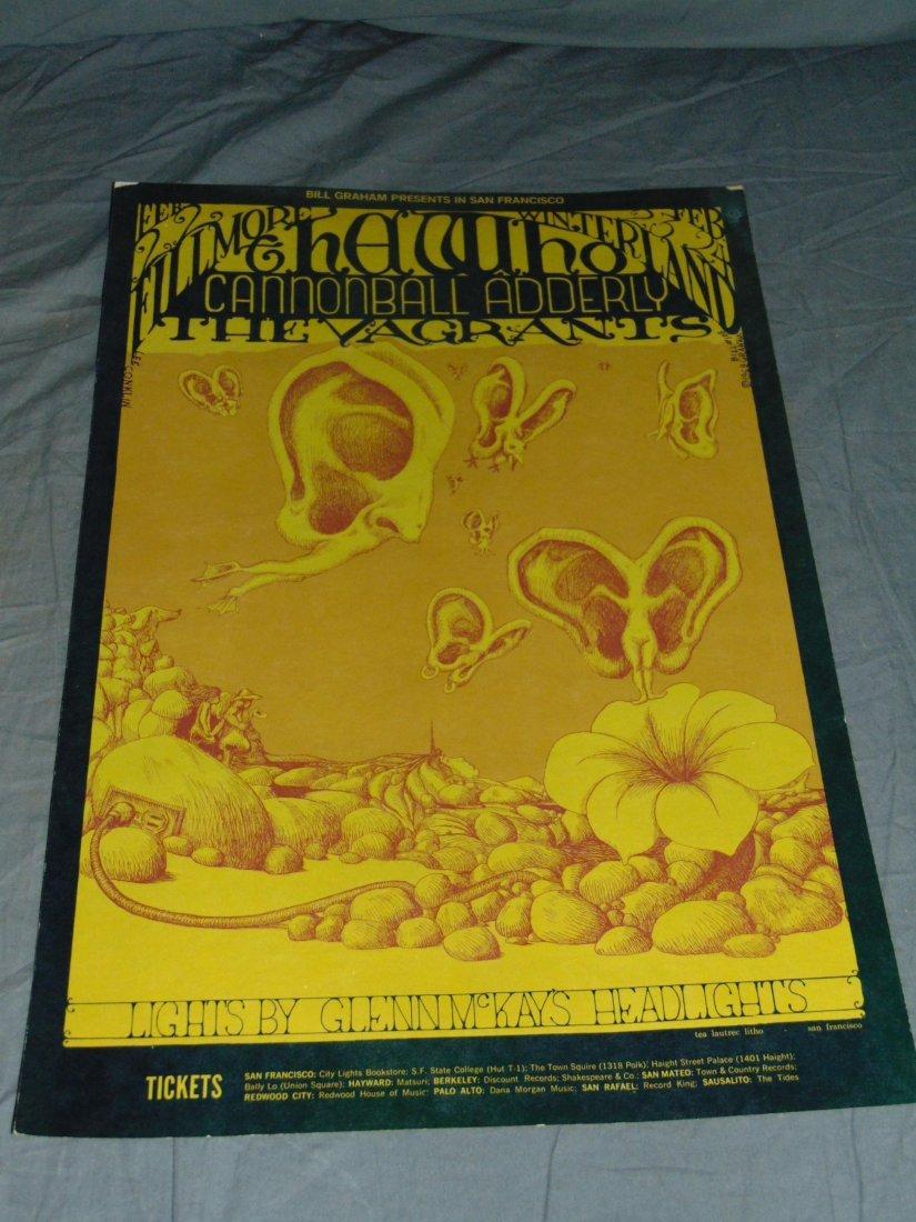 1968 The Who BG108 Fillmore Concert Poster
