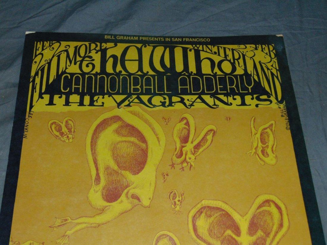 1968 The Who BG108 Fillmore Concert Poster - 2