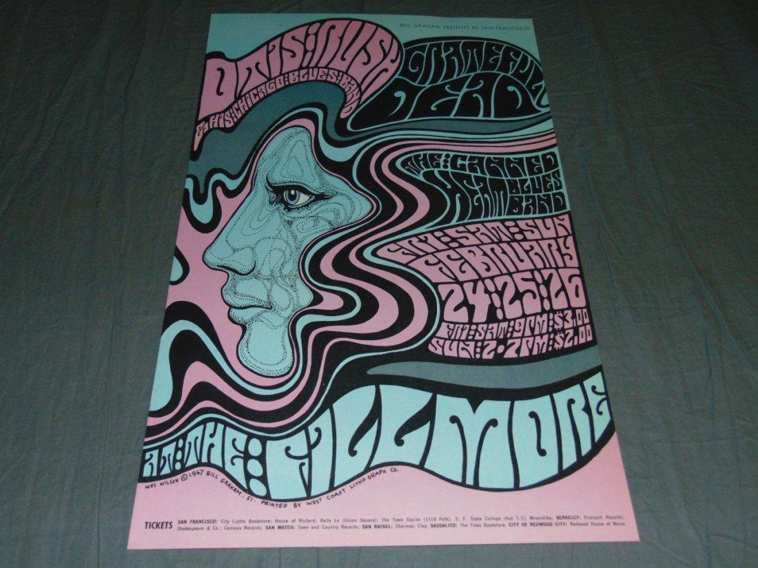 Grateful Dead Fillmore Concert Poster BG51