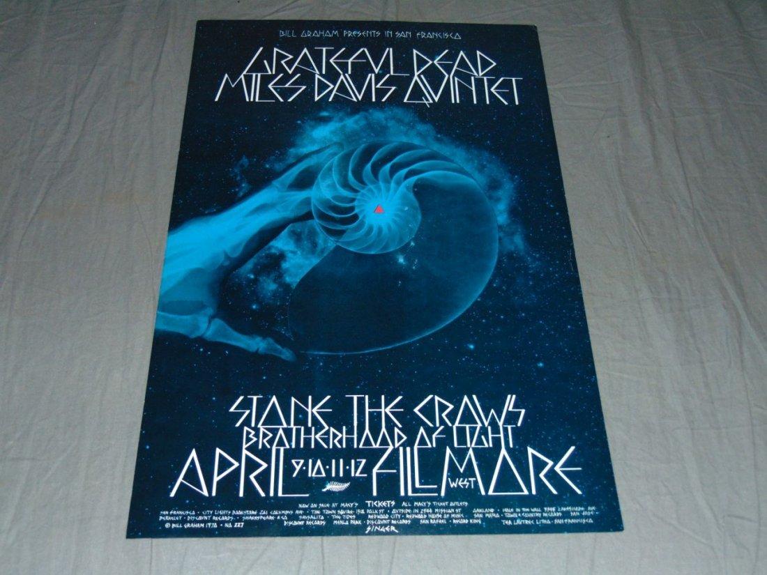 Grateful Dead Fillmore Concert Poster BG227