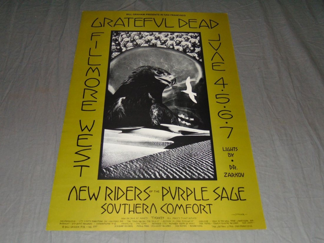 Grateful Dead Fillmore Concert Poster BG237