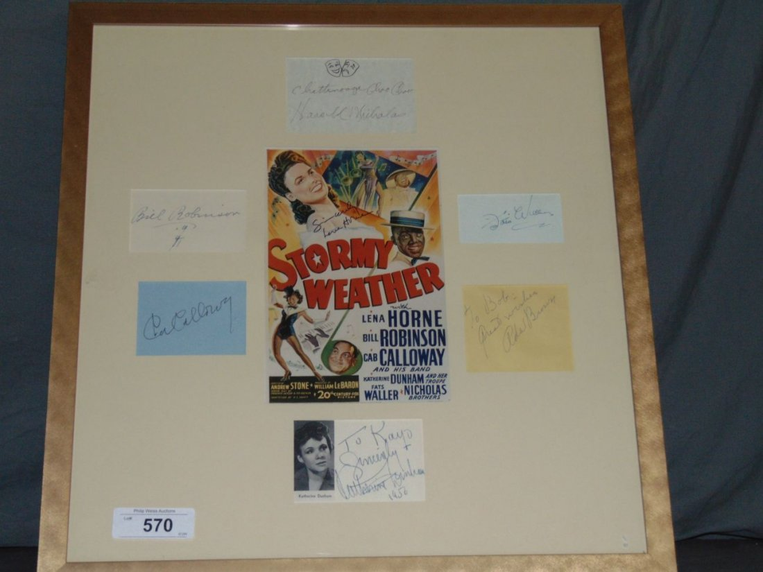 Stormy Weather Autographed Montage