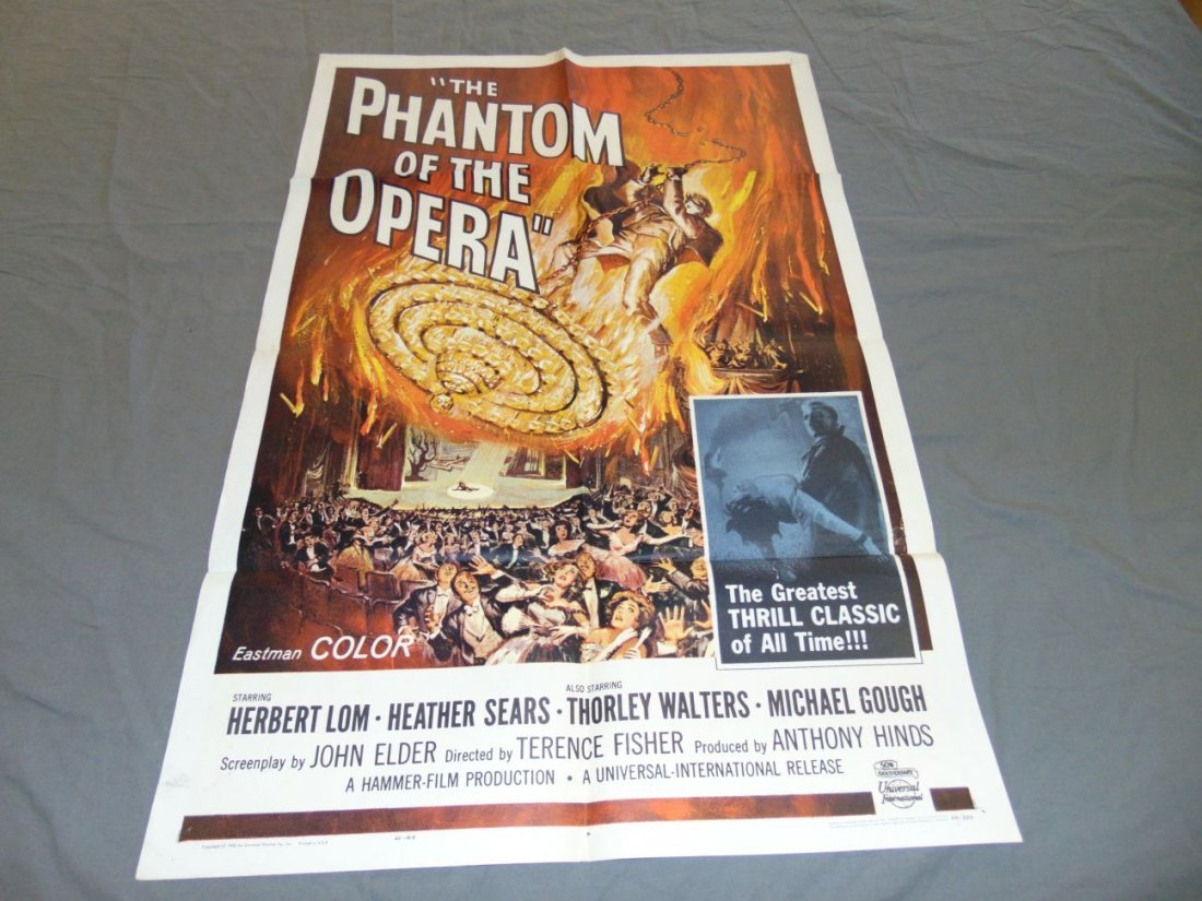 1962 The Phantom of the Opera One Sheet, Horror
