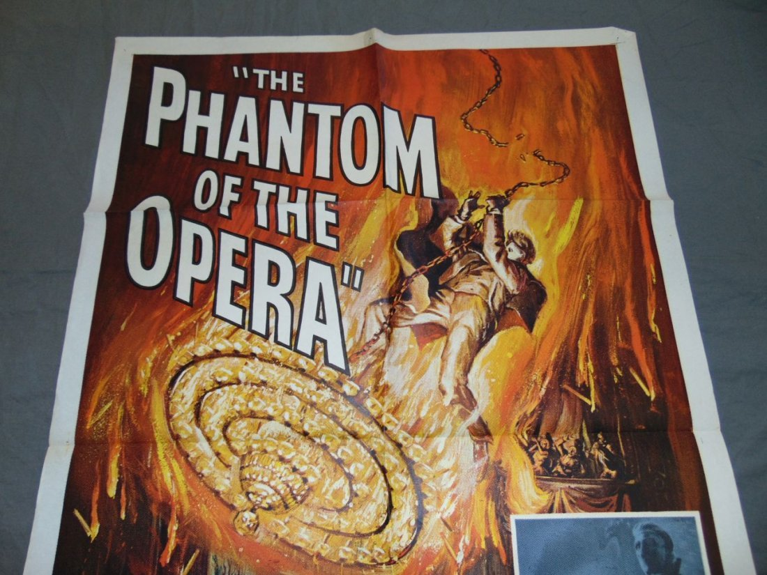 1962 The Phantom of the Opera One Sheet, Horror - 2