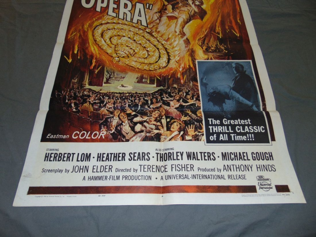 1962 The Phantom of the Opera One Sheet, Horror - 3