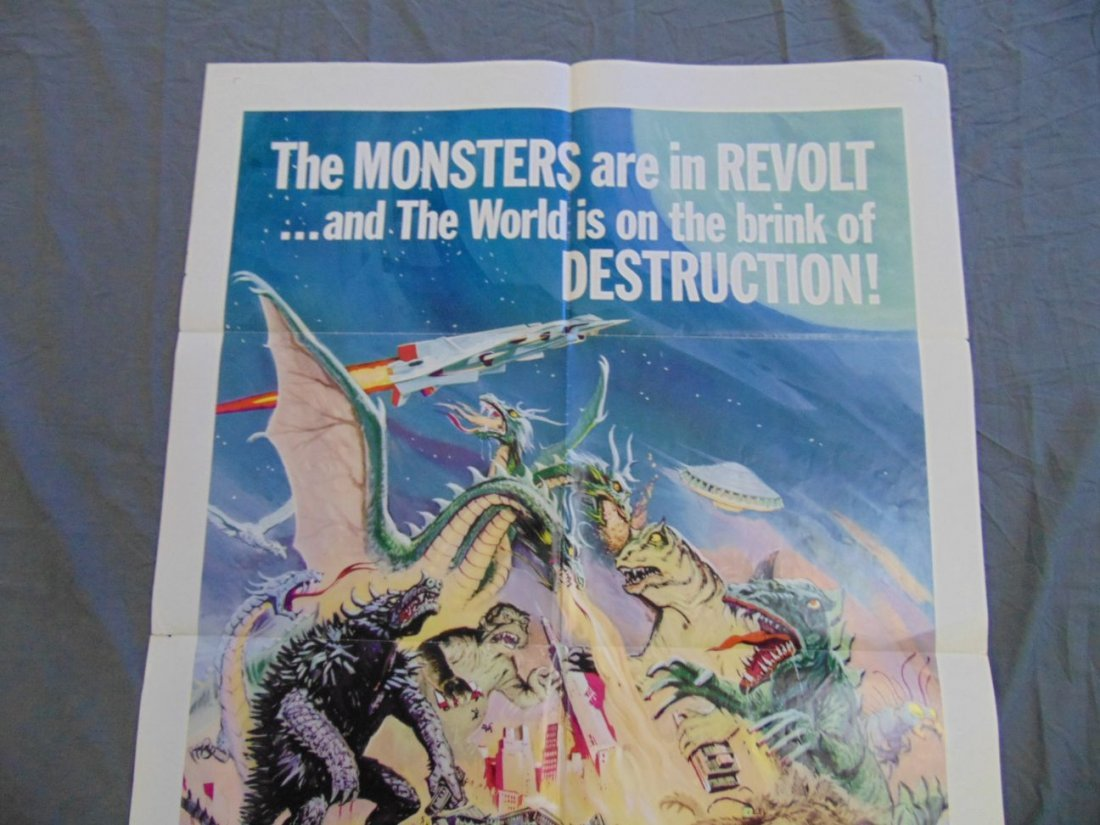 1969 Destroy All Monsters One Sheet Poster - 10