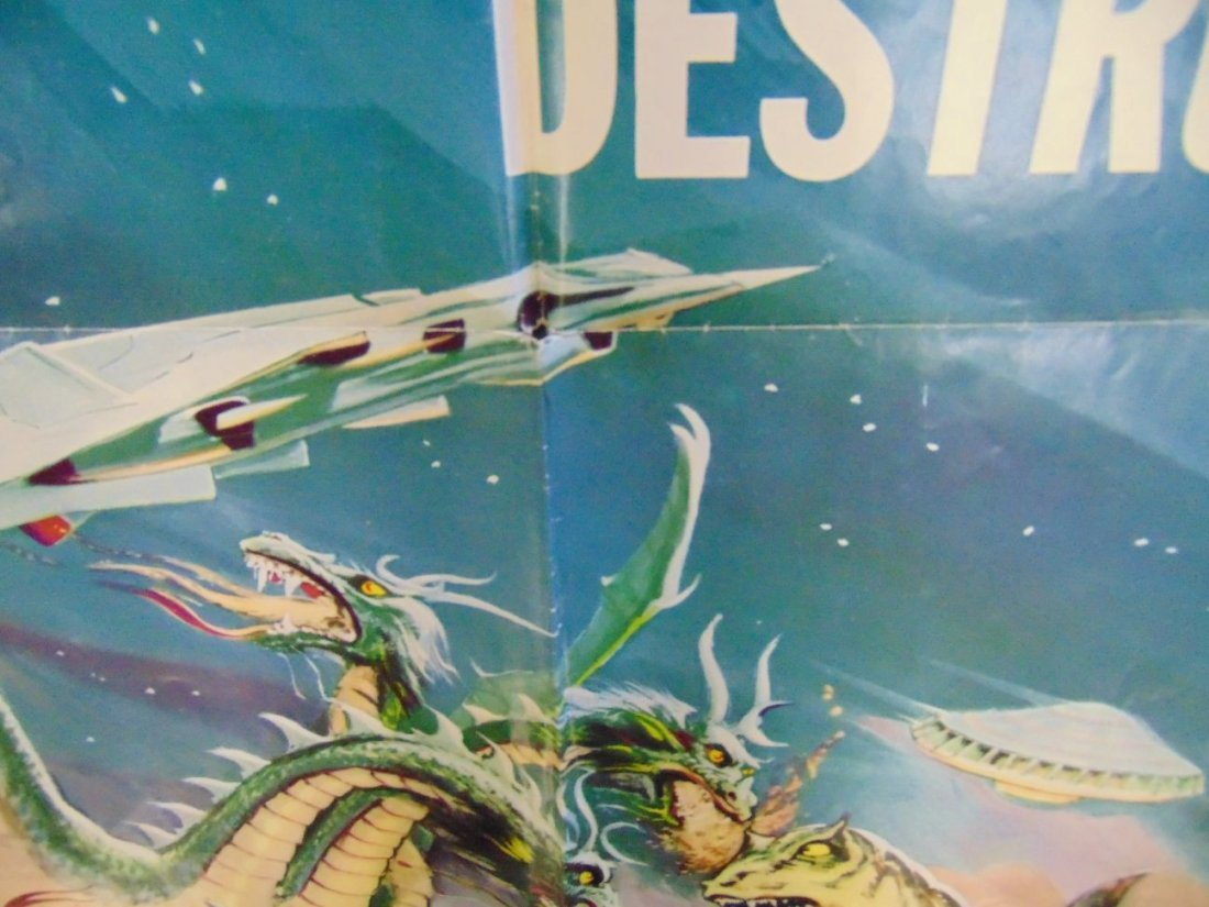 1969 Destroy All Monsters One Sheet Poster - 4