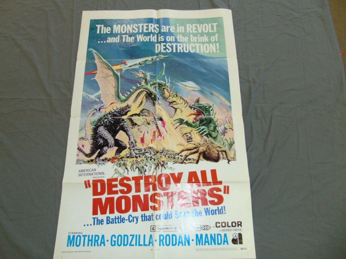 1969 Destroy All Monsters One Sheet Poster - 6