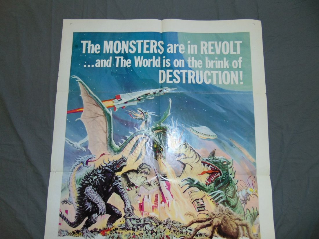 1969 Destroy All Monsters One Sheet Poster - 7