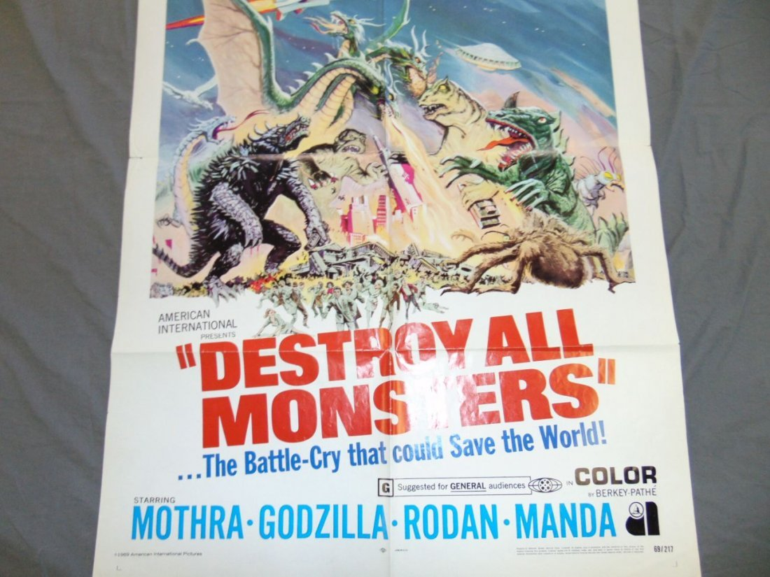 1969 Destroy All Monsters One Sheet Poster - 8
