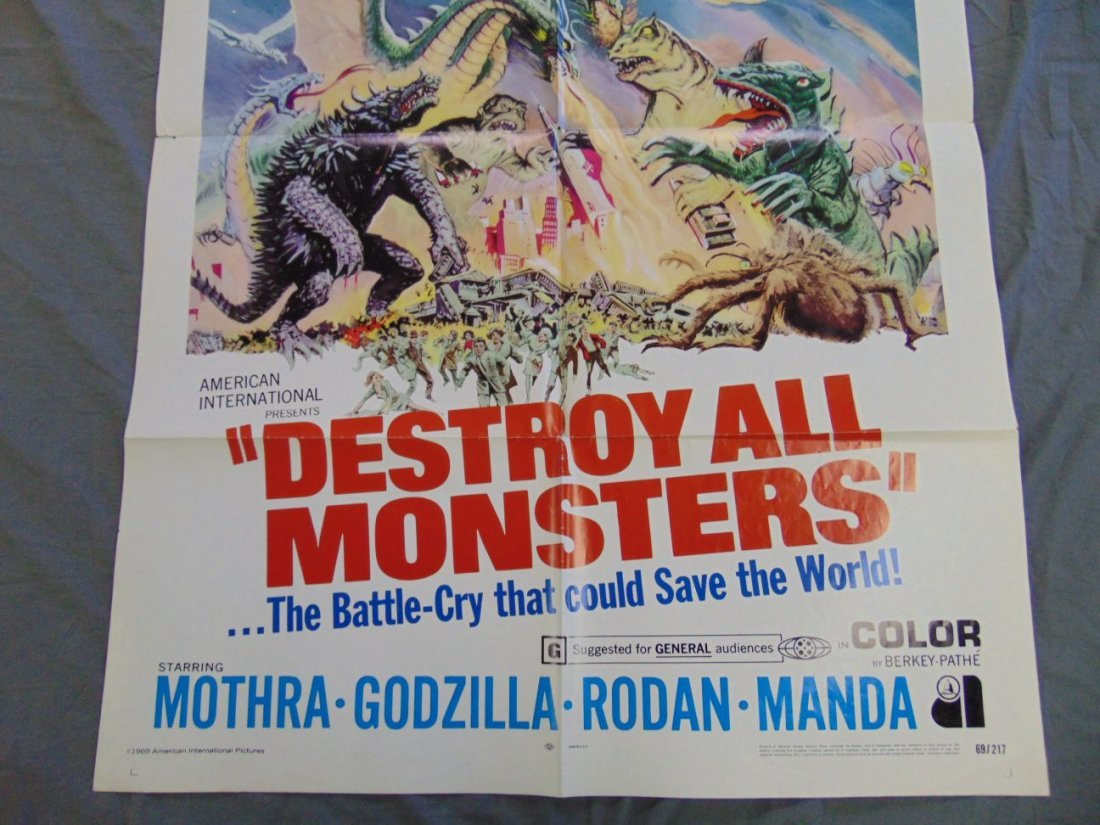 1969 Destroy All Monsters One Sheet Poster - 9