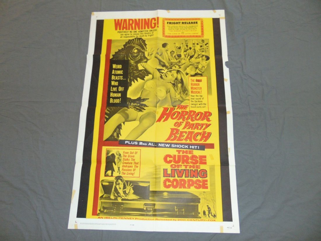 1964 The Horror of Party Beach One Sheet Poster
