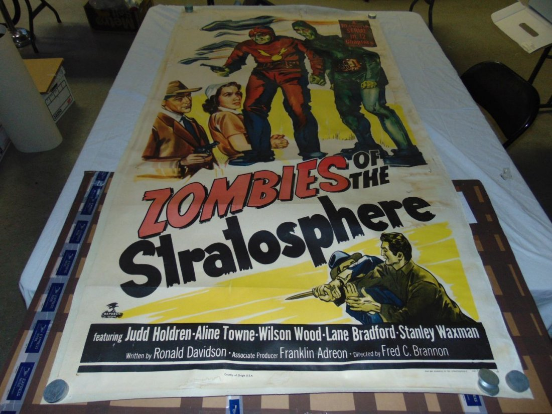 1952 Zombies of the Stratosphere, Three Sheet Pstr