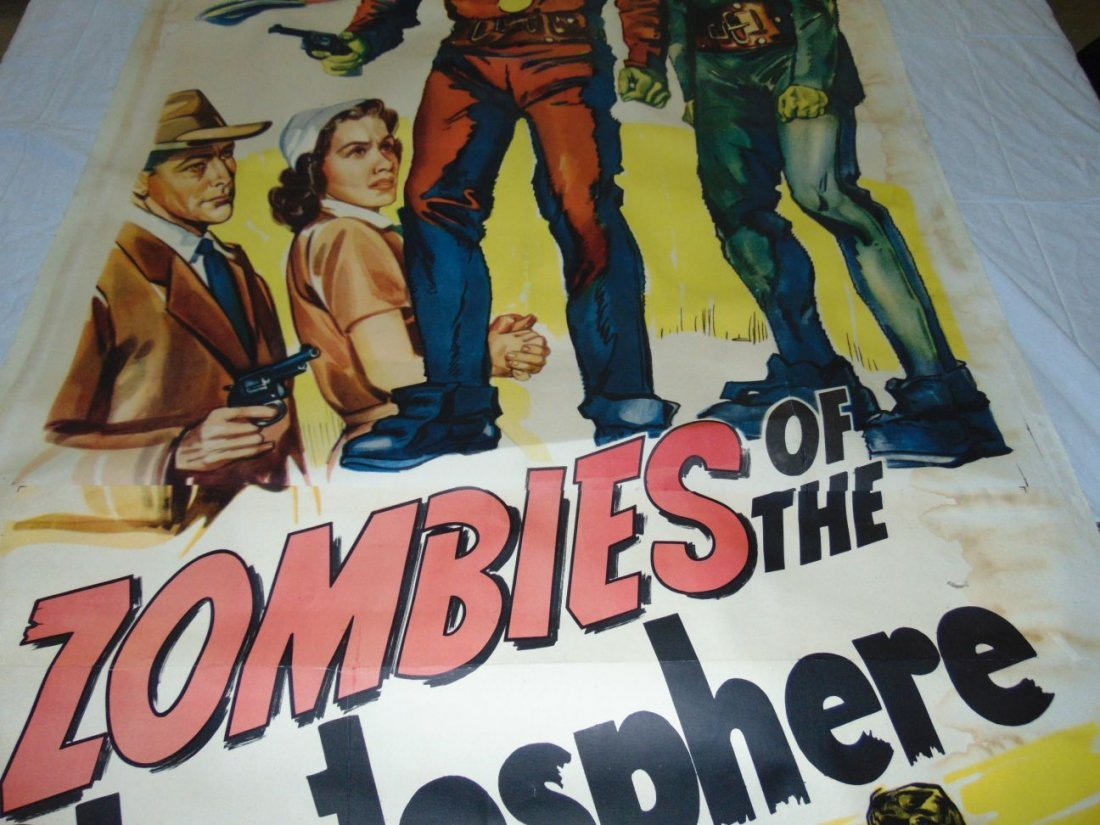 1952 Zombies of the Stratosphere, Three Sheet Pstr - 4