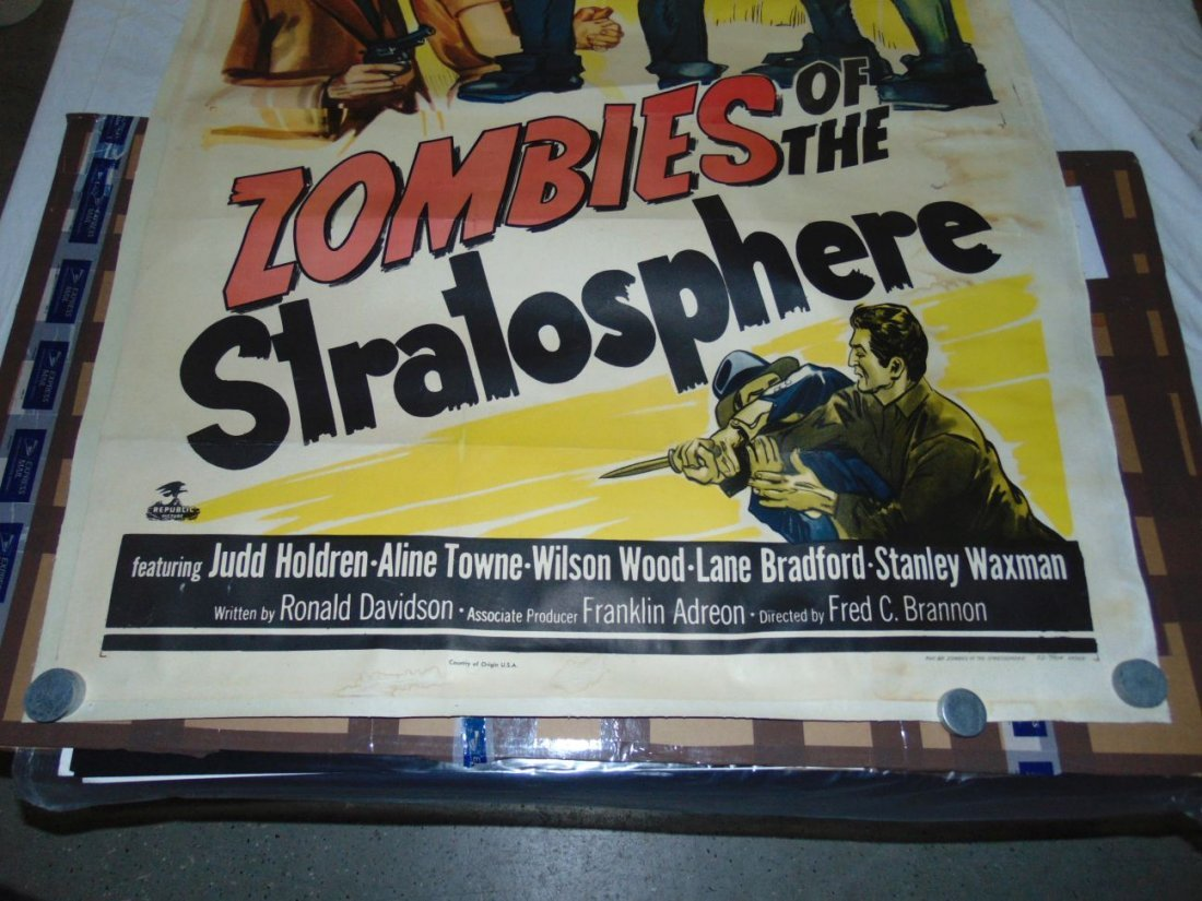 1952 Zombies of the Stratosphere, Three Sheet Pstr - 5