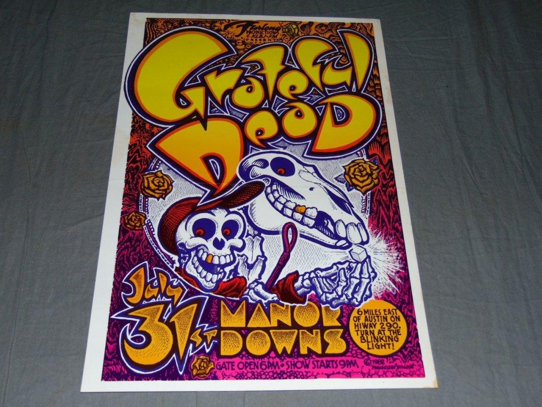 Grateful Dead Manor Downs Austin Concert Poster