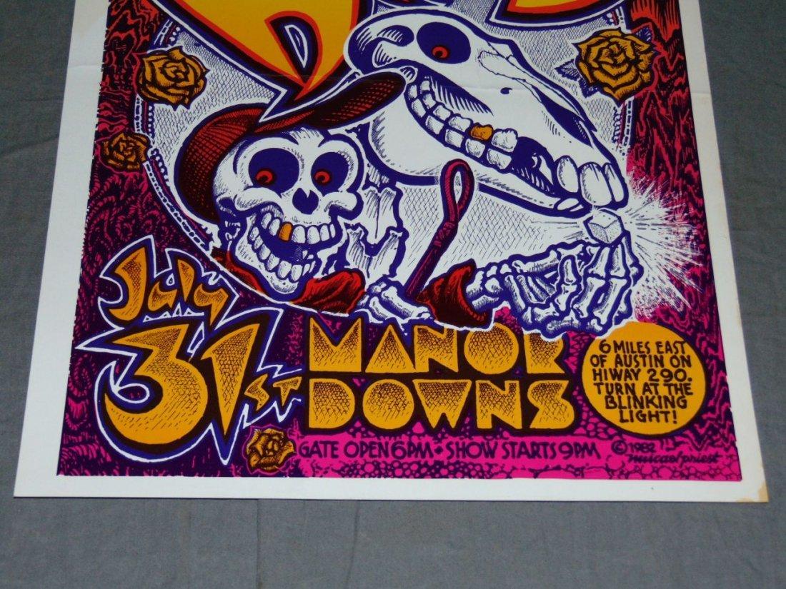 Grateful Dead Manor Downs Austin Concert Poster - 3