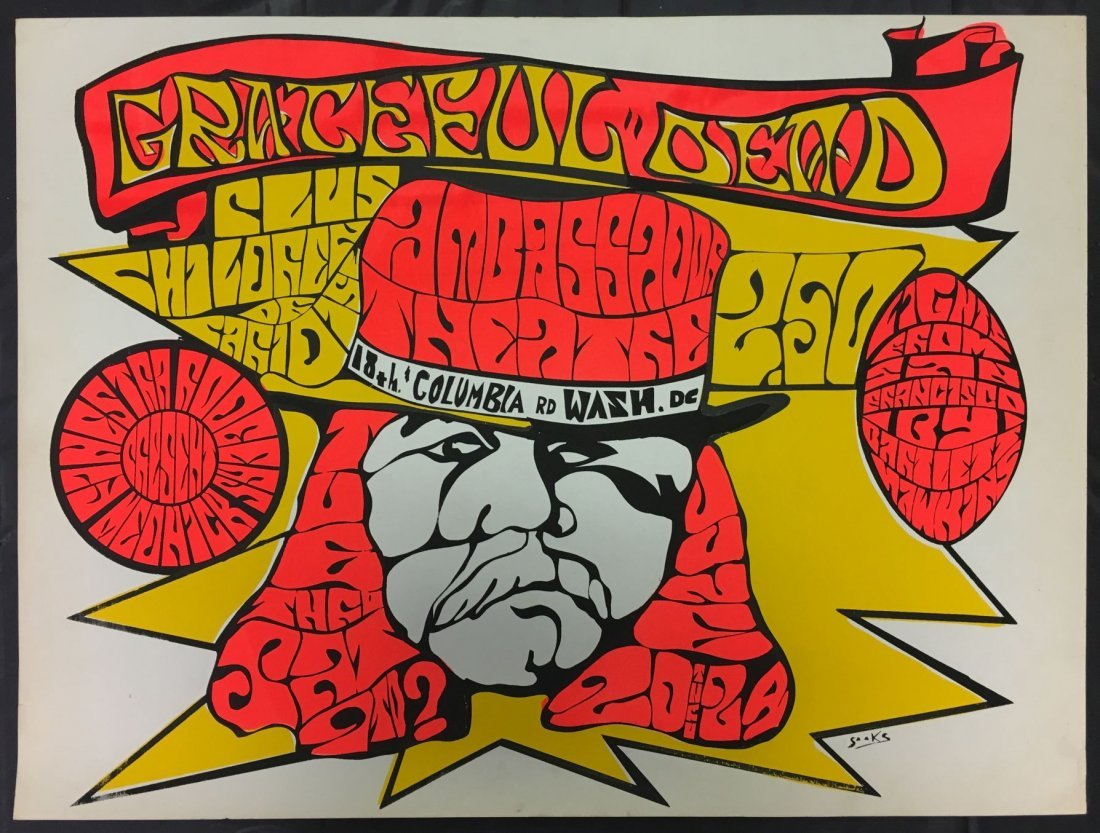 Grateful Dead Washington DC Concert Poster