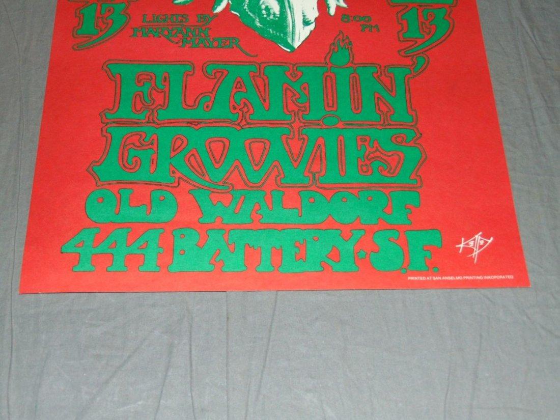 Dinosaurs Flamin Groovies '82 Waldorf Concert Pstr - 3