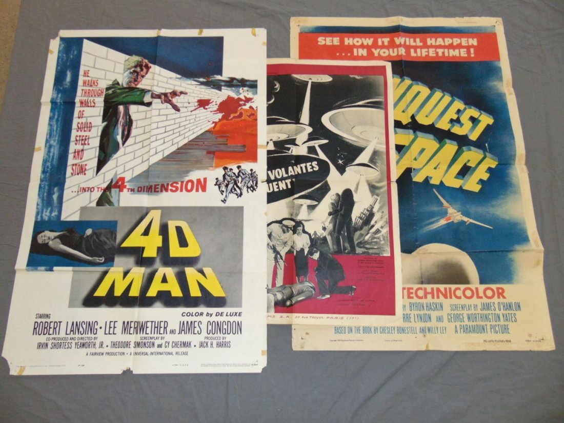 Lot of 3 Assorted Movie Posters