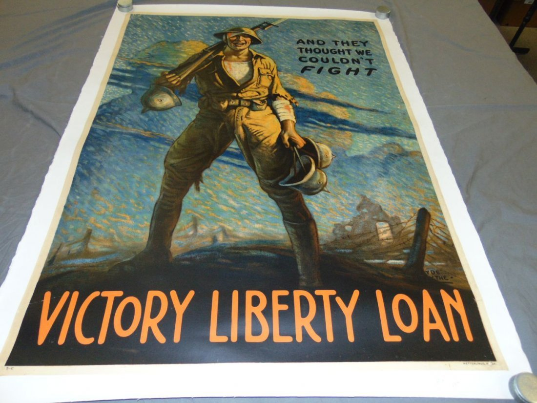 WW1 Victory Liberty Loan Poster, Clyde Forsythe