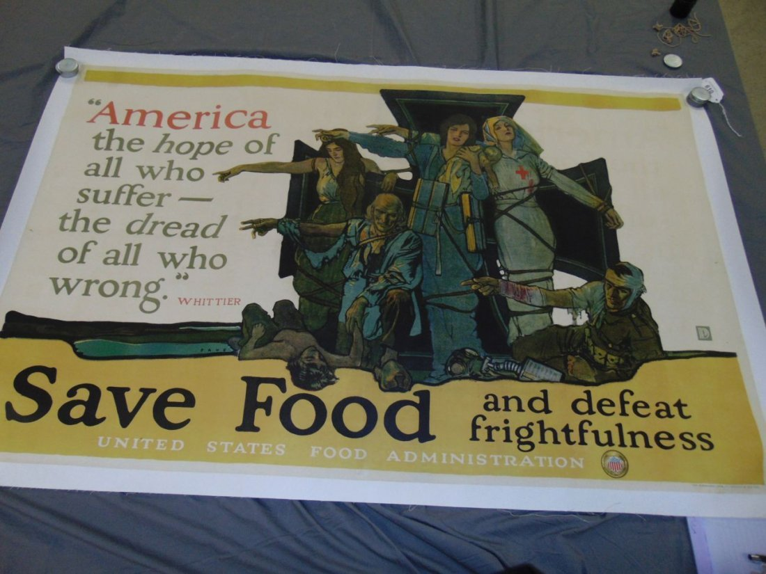 WW1 Save Food US Food Administration Poster, Paus