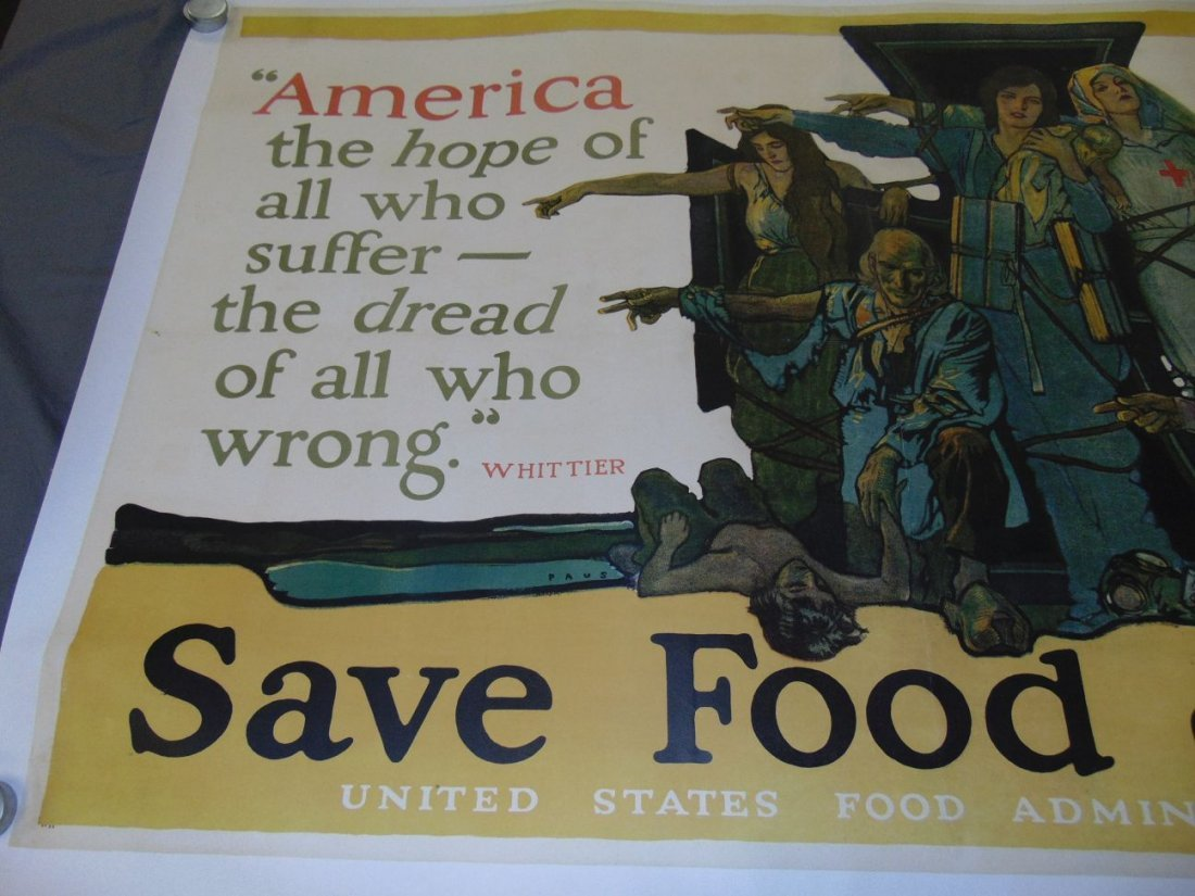 WW1 Save Food US Food Administration Poster, Paus - 2