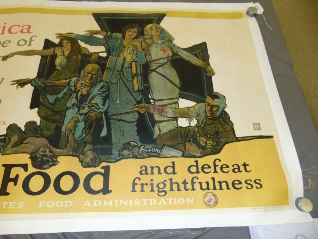 WW1 Save Food US Food Administration Poster, Paus - 3
