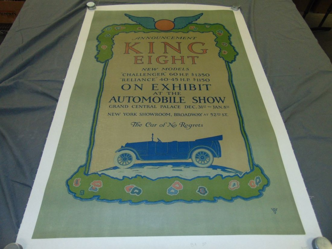 King Eight Automobile Advertising Poster