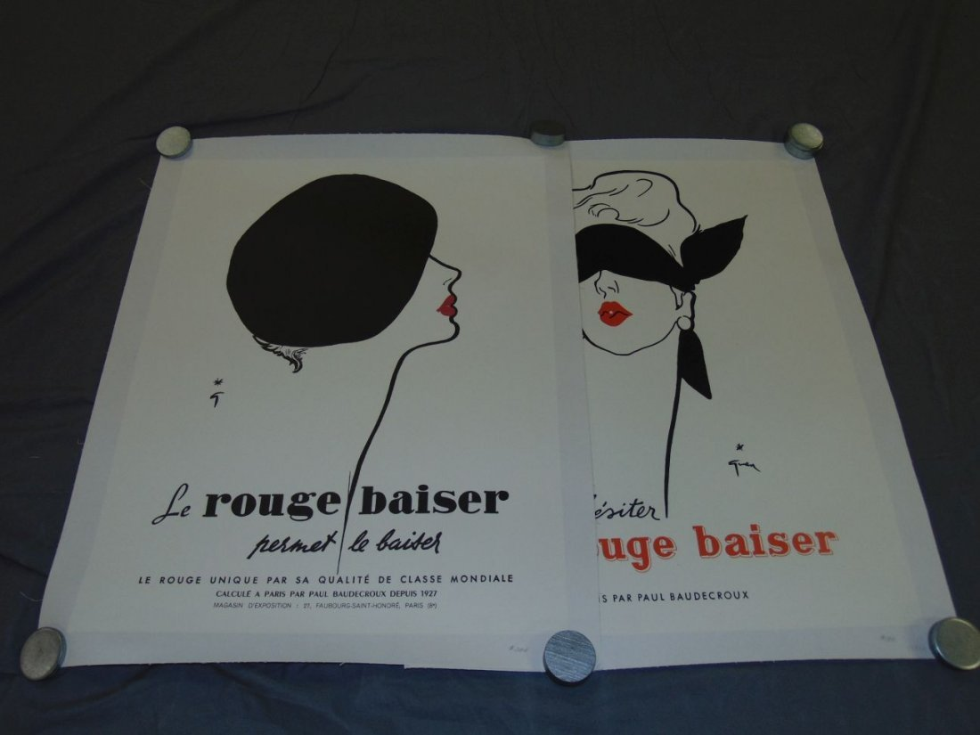 (2) French Advertising Posters, Le Rouge Baiser