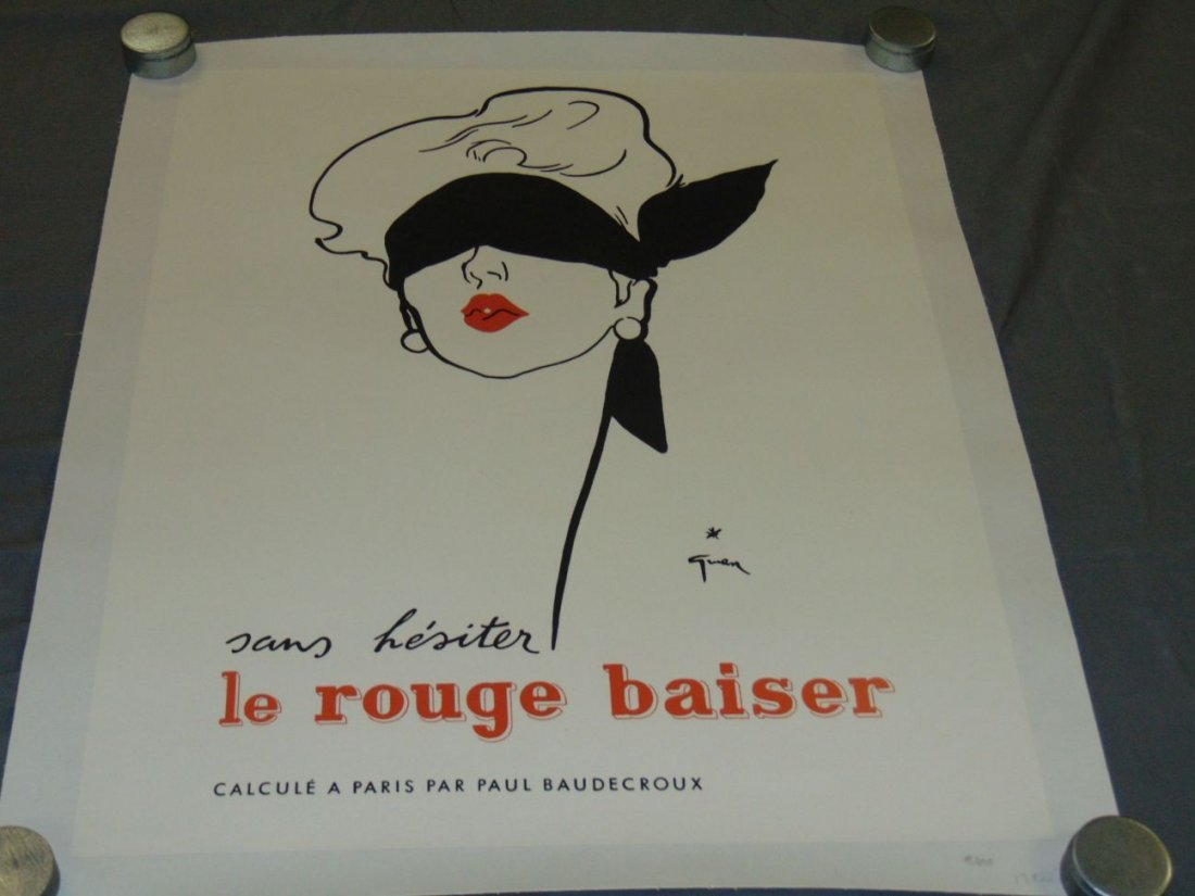 (2) French Advertising Posters, Le Rouge Baiser - 2