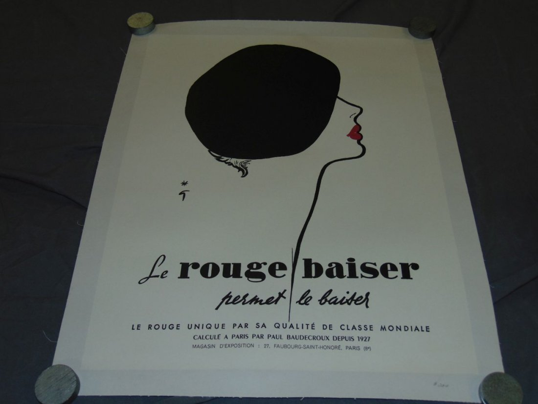 (2) French Advertising Posters, Le Rouge Baiser - 4