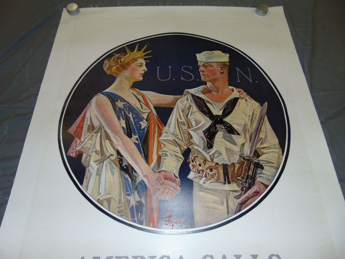 WW1 Enlist in the Navy Poster, Leyendecker - 2