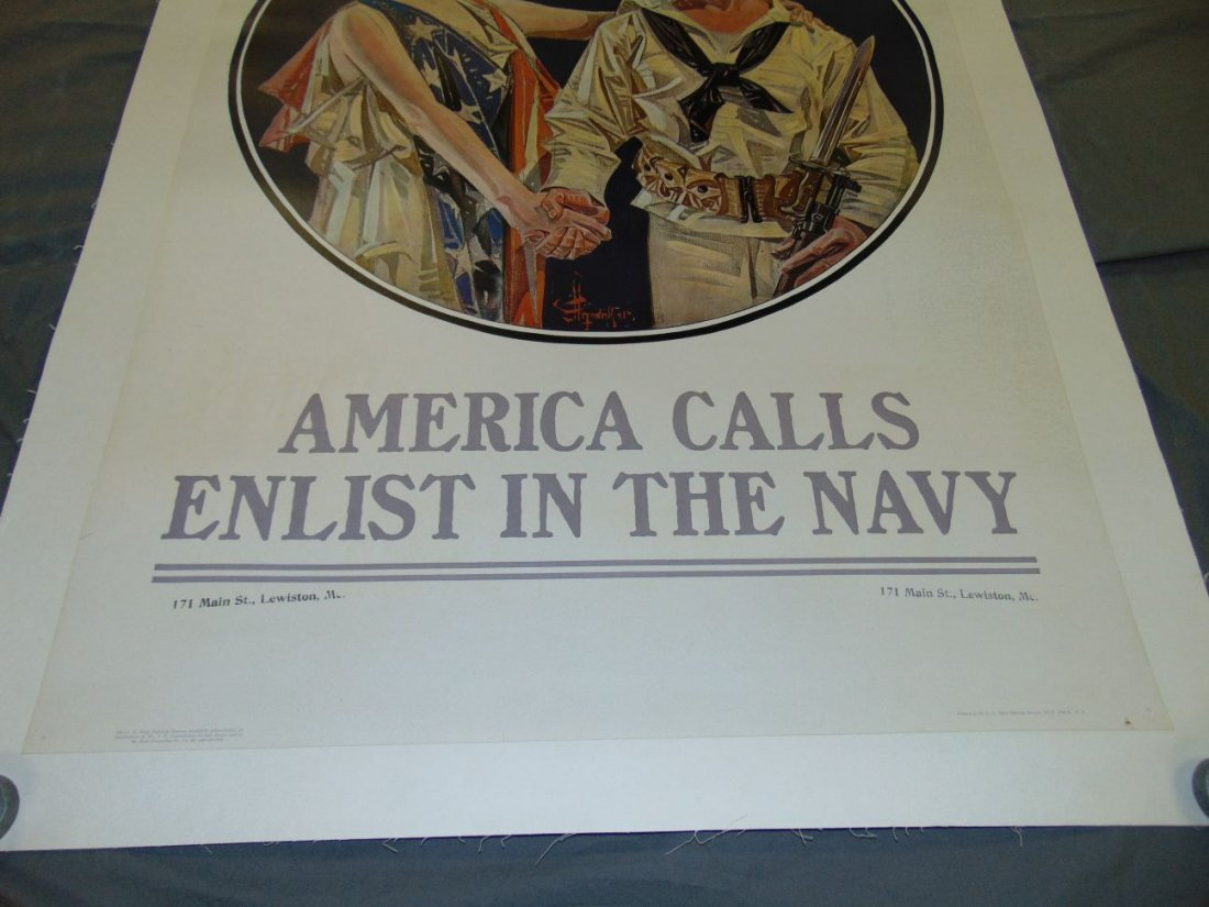 WW1 Enlist in the Navy Poster, Leyendecker - 3