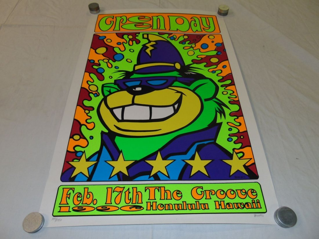 Green Day Kozik 1996 Hawaii Concert Poster