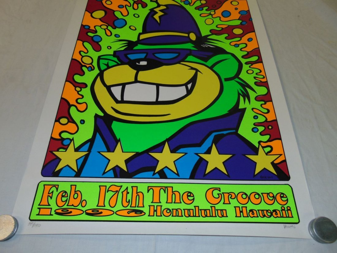 Green Day Kozik 1996 Hawaii Concert Poster - 3