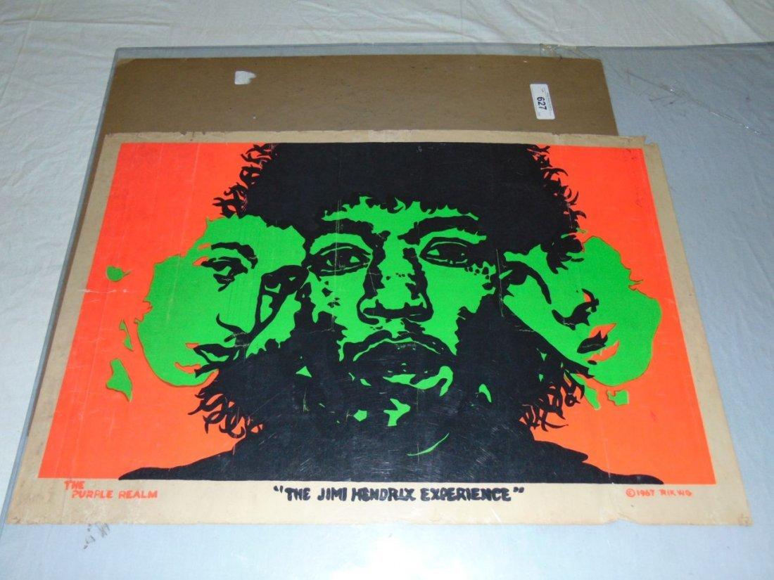 Jimi Hendrix 1967 Head Shop Psychedelic Poster