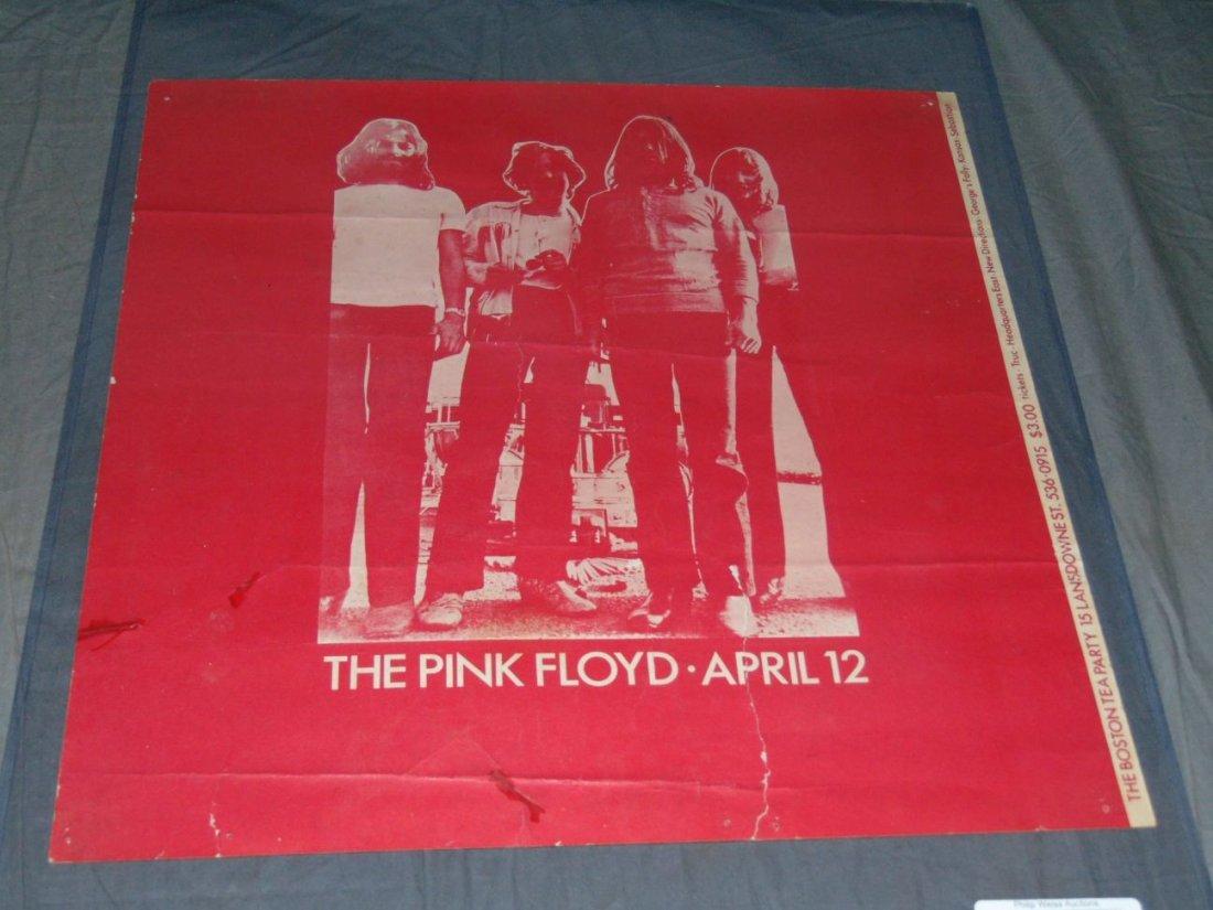Pink Floyd 1970 Boston Concert Poster