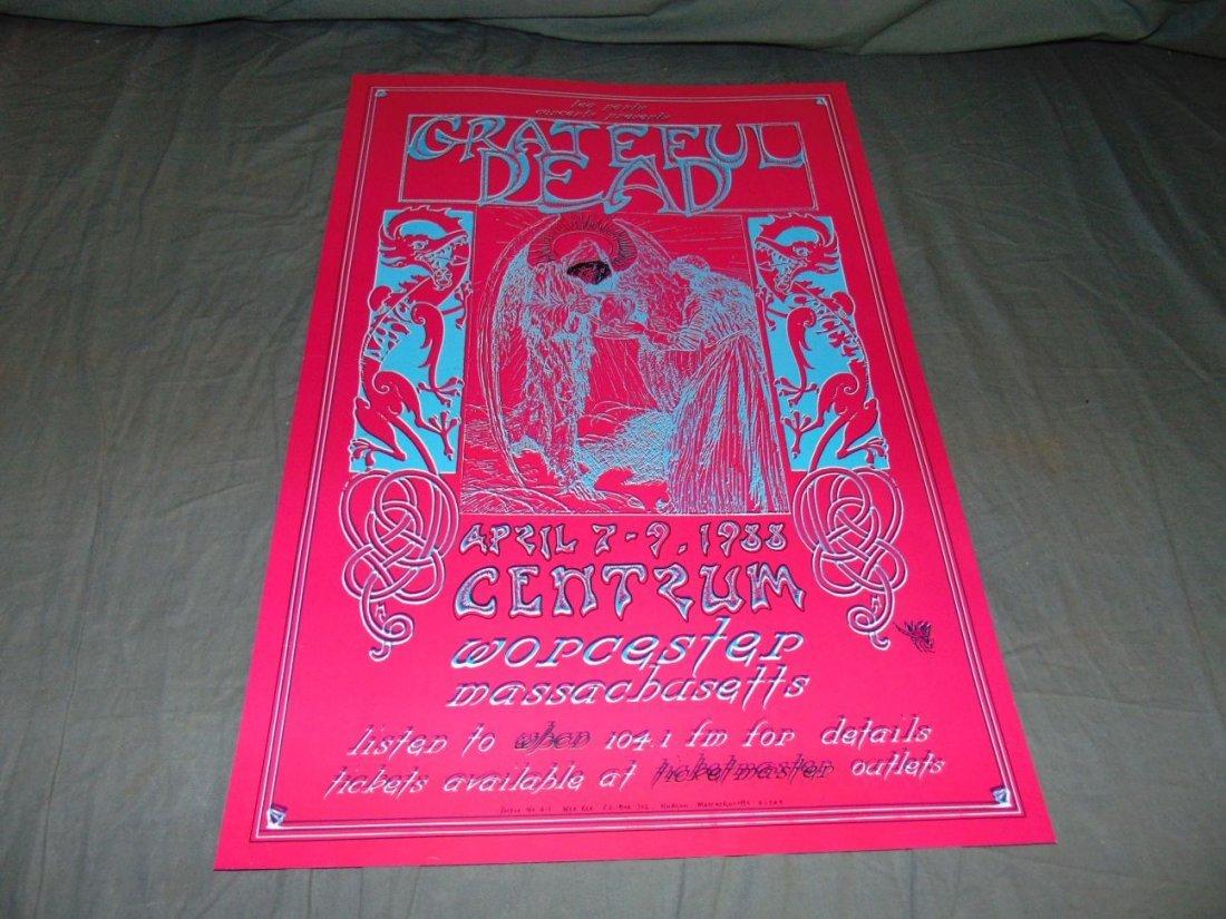 Grateful Dead Psychedelic Concert Poster