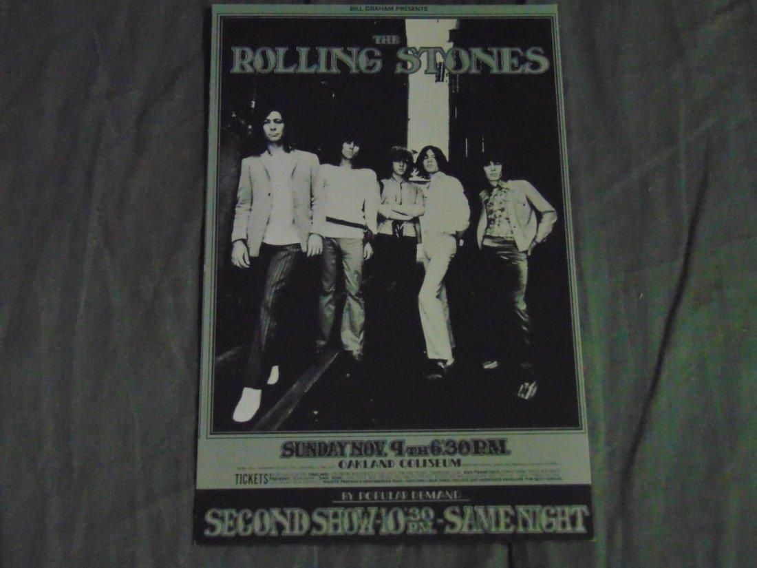 Rolling Stones 1969 Concert Handbill