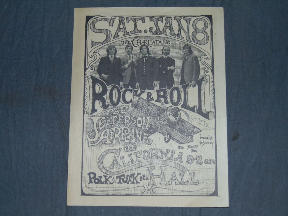 Jefferson Airplane Charlatans '66 Concert Handbill