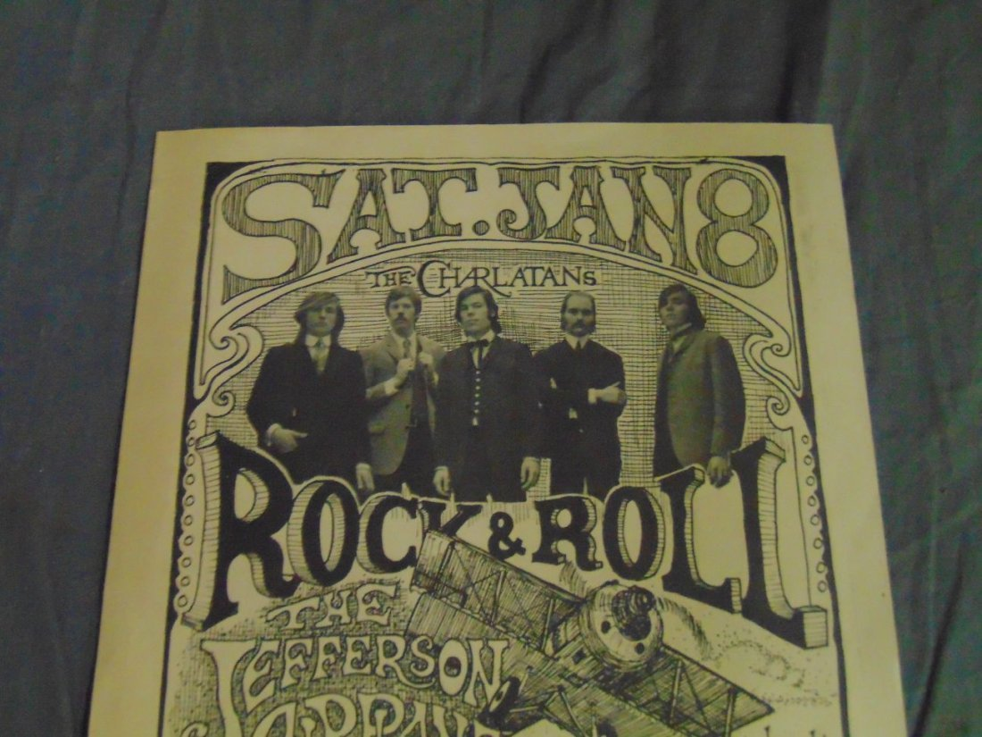 Jefferson Airplane Charlatans '66 Concert Handbill - 2