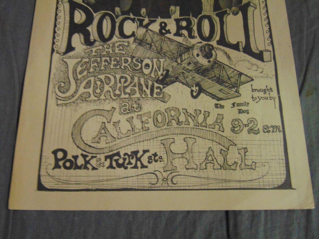 Jefferson Airplane Charlatans '66 Concert Handbill - 3