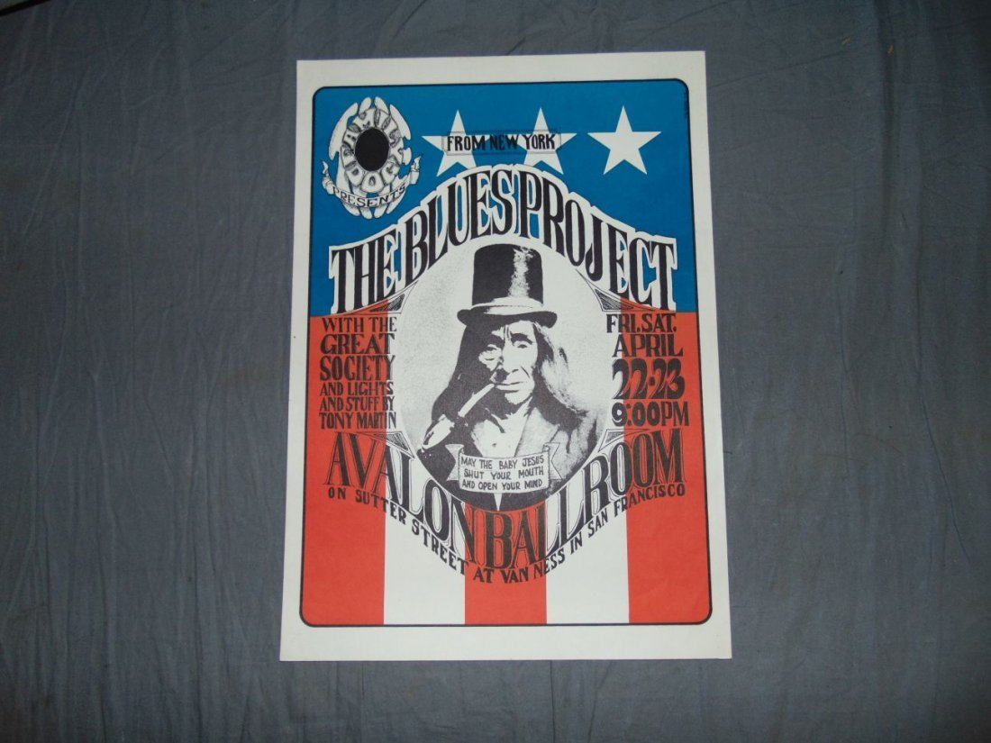1966 Blues Project Family Dog Concert Poster FD5