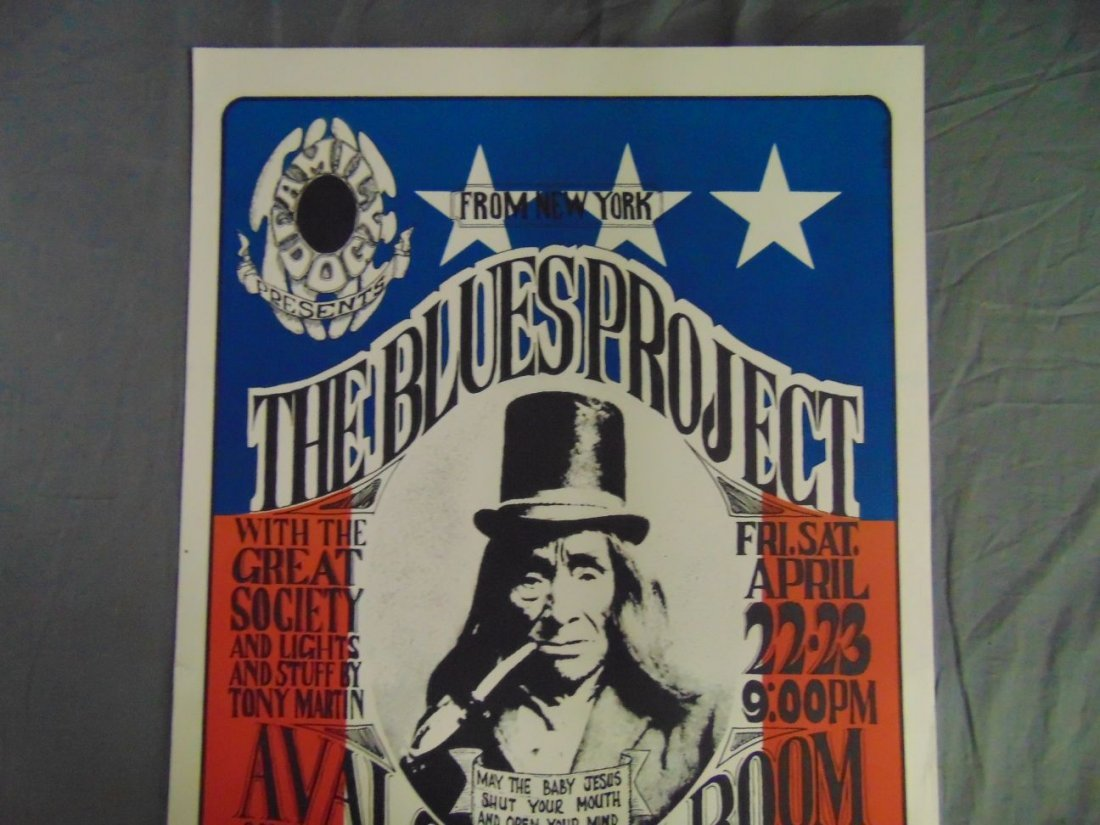 1966 Blues Project Family Dog Concert Poster FD5 - 2