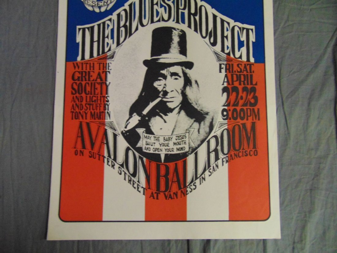 1966 Blues Project Family Dog Concert Poster FD5 - 3
