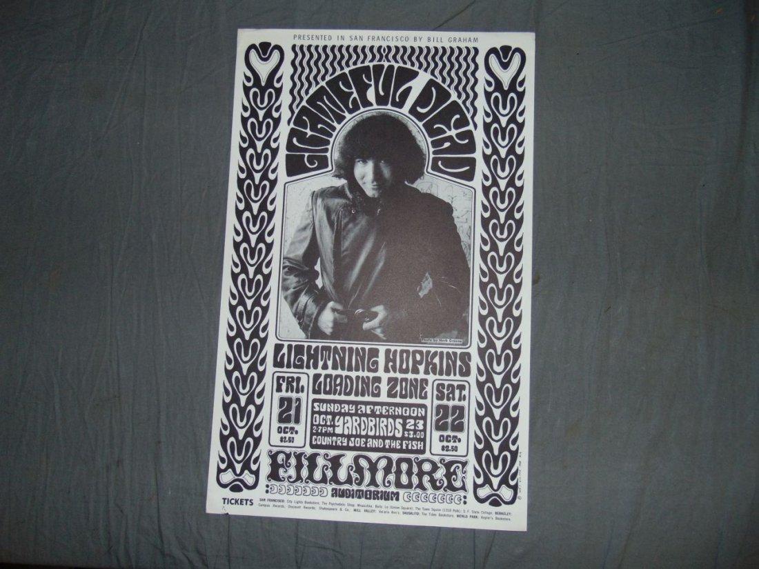 Grateful Dead BG32 1966 Concert Poster