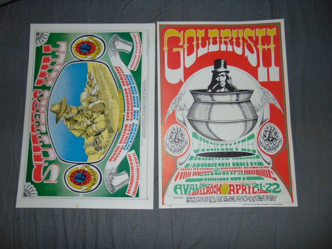 (2) Quicksilver Rick Griffin FD 1967 Concert Pstrs