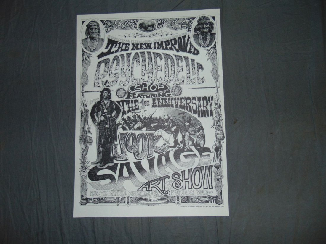 Rick Griffin 1967 Psychedelic Shop Art Show Poster