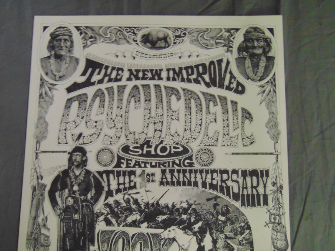 Rick Griffin 1967 Psychedelic Shop Art Show Poster - 2